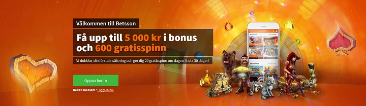 Betsson har flest spelautomater med jackpott