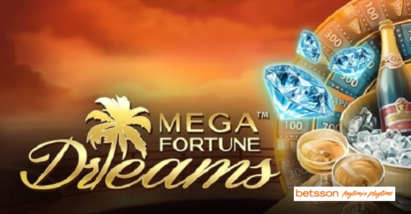 Free spins på jackpottspelet Mega Fortune Dreams hos Betsson