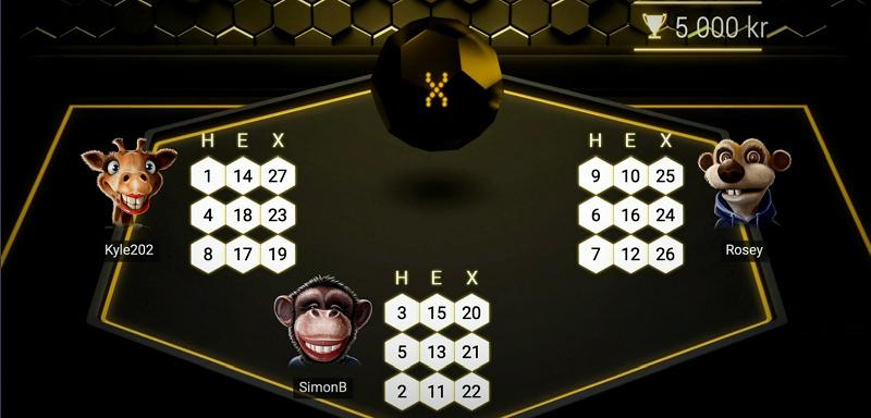 Så går det till att spela HexaBingo hos Maria Casino.